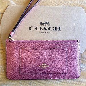 Coach Metallic Envelope wallet